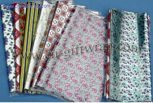 Printed gift wrap flim sheet