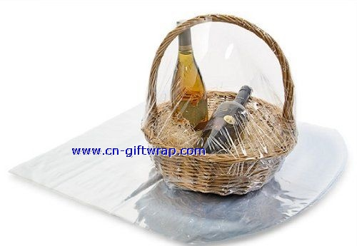PVC Shrink wrap basket bag of round bottom