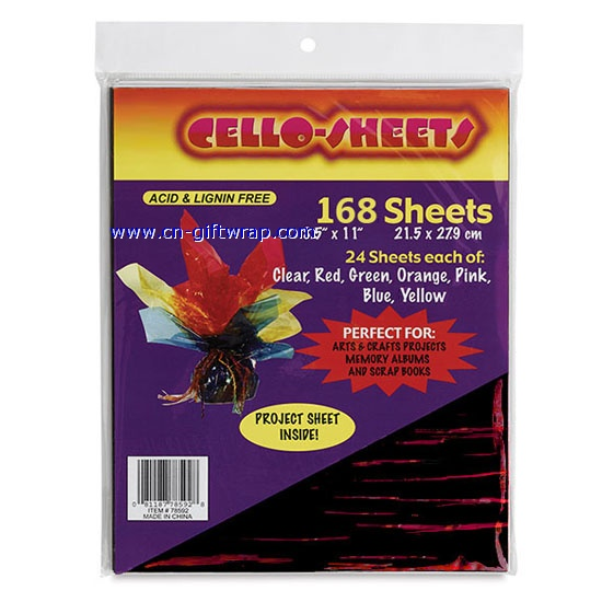 cellophane paper sheets