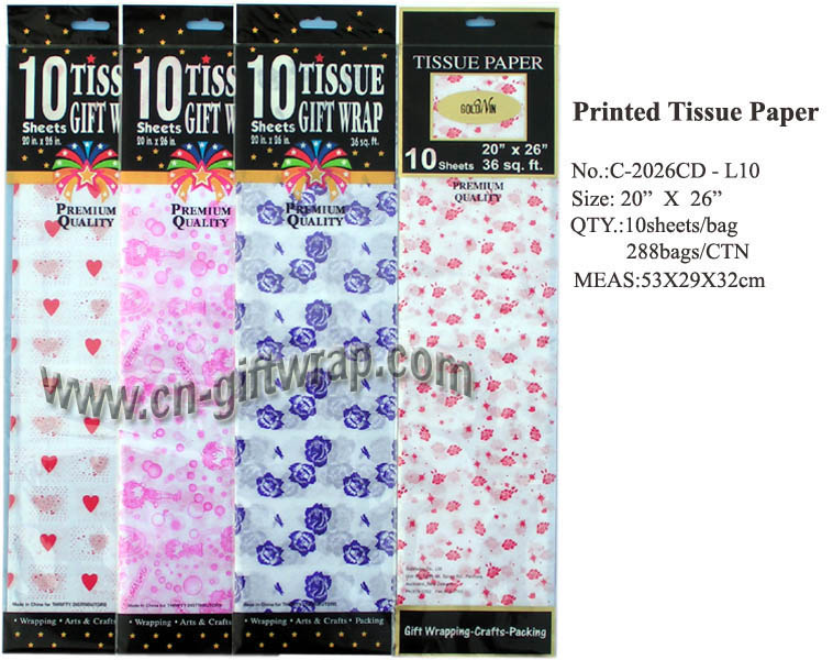 Printing tissue paper   (bags packing)