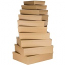 kraft paper box set of 10pcs